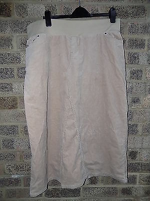Blooming Marvellous beige cord maternity skirt size 18