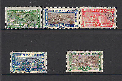 A very nice Icelandic 1925 group of issues