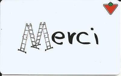 Merci Mint Gift Card From Canadian Tire Canada Bilingual 02/15 No Value