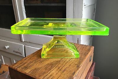 Vintage Early Clark's Teaberry Gum Clear Pressed Glass Store Display Stand