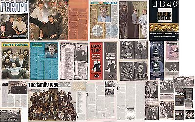 UB40 : CUTTINGS COLLECTION -adverts interviews-