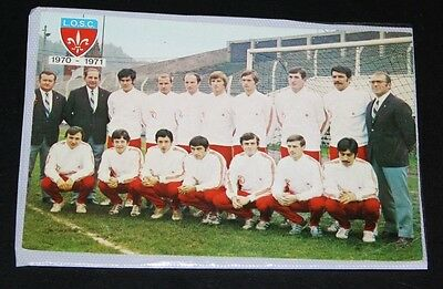 Football Carte Equipe Losc Lille Championnat France 1970.71