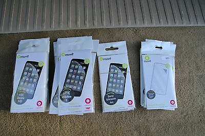 *** Job Lot Of 43 Various Screen Protectors By Muvit ***