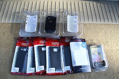 *** Job Lot Of 10 S3,s11,htc,xgisit Black/clear/white Covers ***