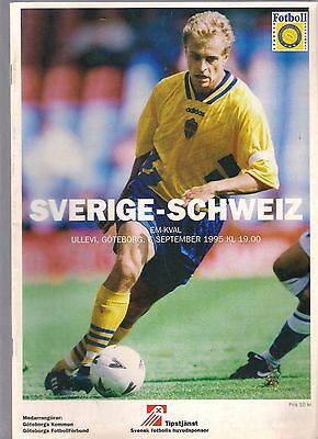 SWEDEN v SWITZERLAND 1995-96 (EURO 96 QUALIFIER)