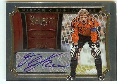 2015 Panini Select Soccer Oliver Kahn Historic Signatures Auto 055/199 Germany