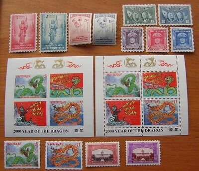 Philippines mn/h Year of Dragon m/ss perf & imperf + other mint stamps