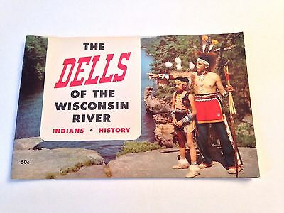 Vintage 1954 Wisconsin Dells Indian And History Tourism Booklet