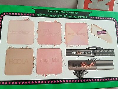 *BENEFIT* Real Cheeky Party Palette Blushers bronzer! BN & 2 SAMPLES