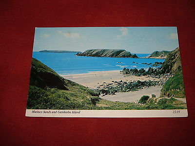 VINTAGE WALES: PEMBROKESHIRE MARLOES SANDS panorama colour 1979