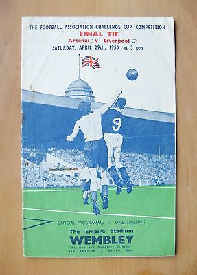 1950 FA Cup Final ARSENAL v LIVERPOOL *Good Condition Football Programme*