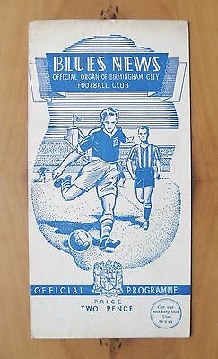 BIRMINGHAM CITY v MANCHESTER UNITED 1948/1949 *VG Condition Football Programme*