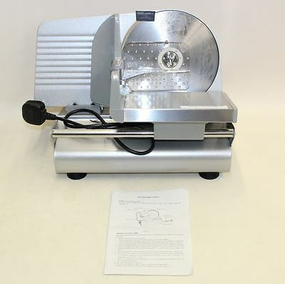 BNIB 19cm Stainless Steel Blade Electric Meat Kitchen Cheese Bread Food Slicer
