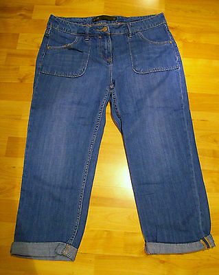 Fab Next Cropped Blue Jeans - Size 12 - Worn Once Only!