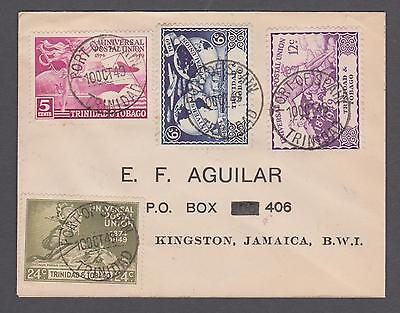 1949 Trinidad & Tobago U.P.U. set on sealed 1st day of issue cover.