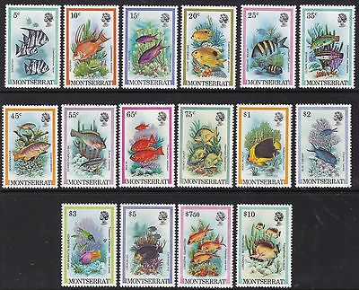 Montserrat 1981 Fish Set, Unmounted Mint, Cat £16