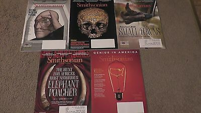Lot of 5 Smithsonian Magazines Mostly Mint Unread condition
