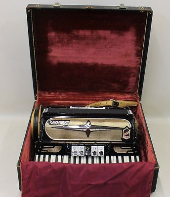 SEVILLE Vintage La Toscs By Gretsch Accordion Black Italian Made Hard Case Set