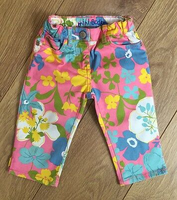 Girls Cute Floral Cropped Trousers, MINI BODEN, Age 3 Yrs