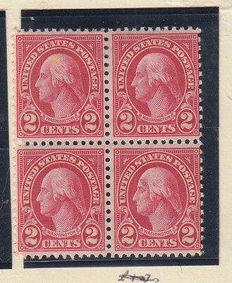 A very nice old United States Unused 1923 Two Cents Block of Four