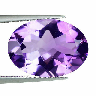 10x8mm OVAL-FACET LIGHT-PURPLE NATURAL BRAZILIAN AMETHYST GEMSTONE £1 NR!