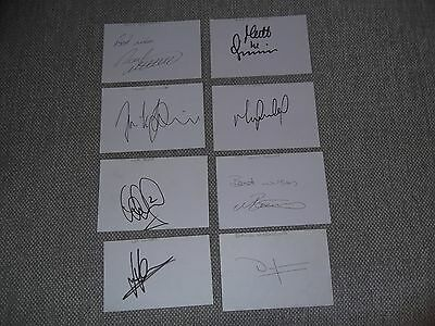 Assorted Football Clubs - Player Autographs x 8