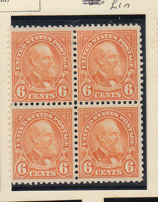 A very nice old United States Unused 1923 Six Cents Block of Four