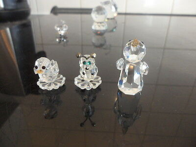 3 x crystal animals/snowman MUST SEE