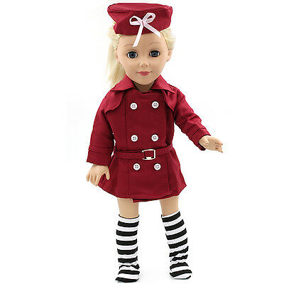 "Fits 18"" American Girl Madame Alexander Handmade Doll Clothes dress MG064"