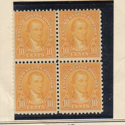 A very nice old United States Unused 1923 Ten Cents Block of Four