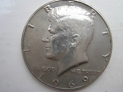 USA Half dollar Silver Bullion coin 1969 (the last of the silver ones!!)