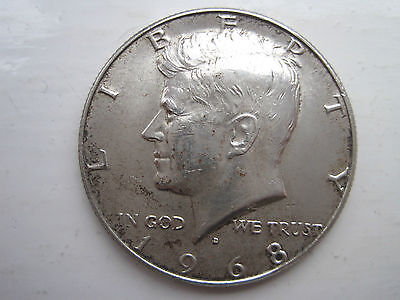 USA Half dollar Silver Bullion coin 1968 (the last of the silver ones!!)