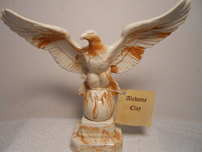 Beautiful Alabama Red Clay Bald Eagle Sculpture w/ Spread Wings