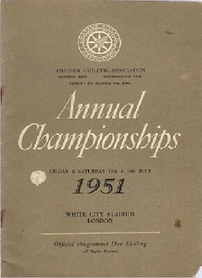AAA ANNUAL CHAMPIONSHIPS 1951 at White City...autographed