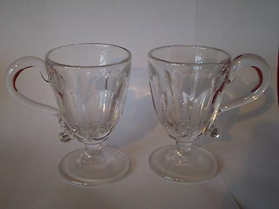 Pair Of Vintage Glass Custard Cups......