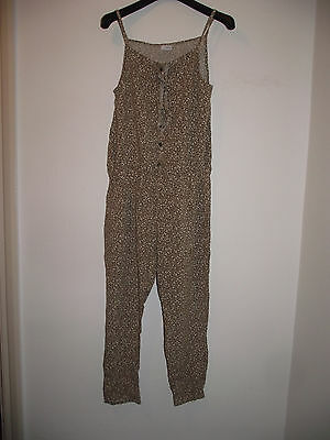 Next Green Printed  Viscose Jumpsuit Size Age 11