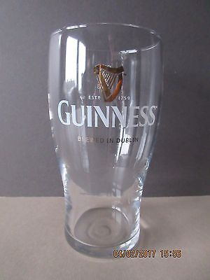 Guinness Brewed In Dublin Pint Glass In Excellent Condition