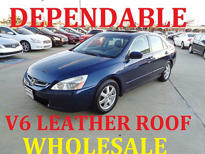 2005 Honda Accord LOW MILES  WHOLESALE PRICES WHOLESALE V6 EX-L LEATHER SUNROOF JUST SERVICED GREAT TIRES LOW SHIPPING