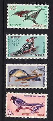 India Birds Set Sg 578-81 Fine Um/mnh