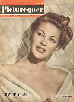 Movie Magazine - Picturegoer (British) 8/17/49 Yvonne De Carlo cover