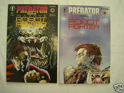 PREDATOR Vs MAGNUS ROBOT FIGHTER : COMPLETE 2 ISSUE 1992 SERIES. DARK HORSE