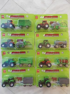 8 TRACTORs METAL+PLASTIC HO 1/87 IN BOXEs  new