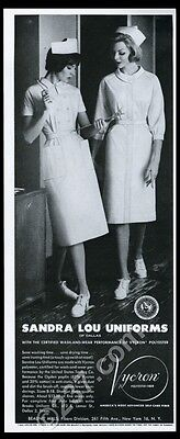 1961 Sandra Lou of Dallas nursing nurse uniform fashion photo vintage print ad
