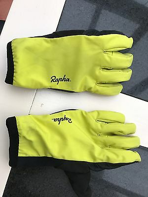 Rapha Winter gloves, yellow size small.