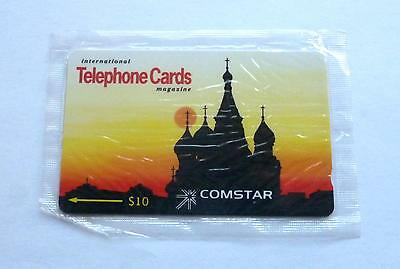 International Telephone Cards Magazine / Comstar $10 Mint Sealed Phonecard
