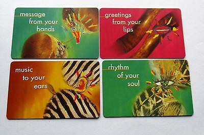 Superb Set Of 4 Used South African Phonecards //