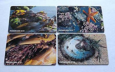 Intertidal Wealth /  Set Of 4 South African Used Phonecards