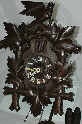 Large Antique Black Forest Cuckoo Clock.