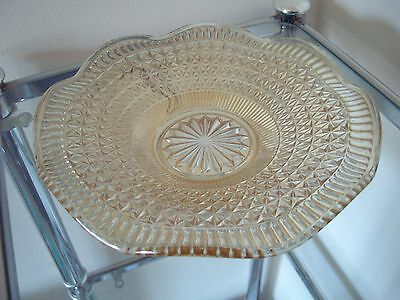 Vintage Amber Glass Fruit Dish - Great Addition To Any Table!