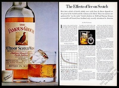 1974 Famous Grouse Scotch whisky bottle photo Effects Of Ice vintage print ad
